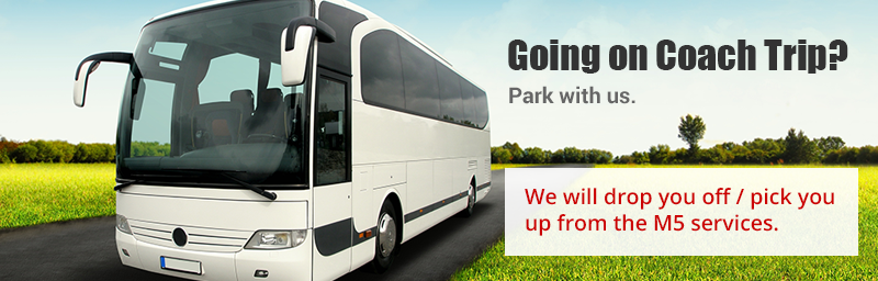 coach trip parking Exeter m5 services